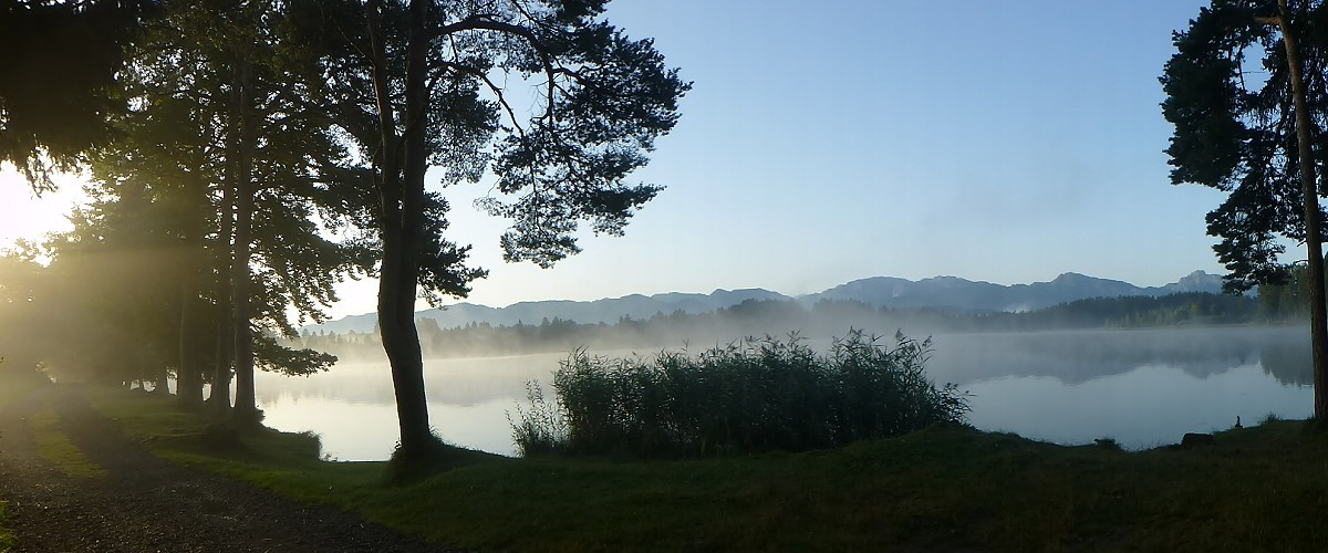Morgenerwachen am Schmuttersee